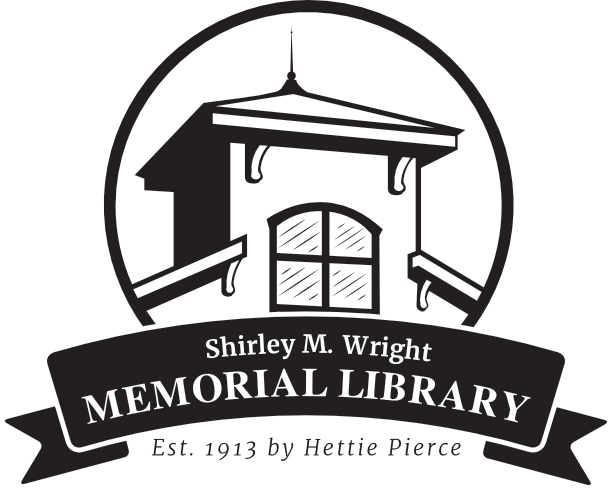 Shirley M. Wright Memorial Library Logo - Back to Home